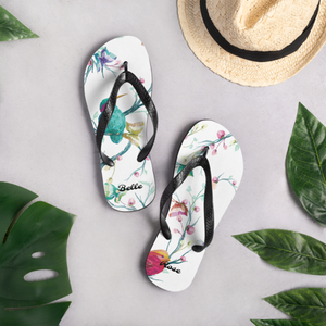 Beautiful Oriental Spring Summer Flip-Flops (Customize #name) - Periwinkle Baby