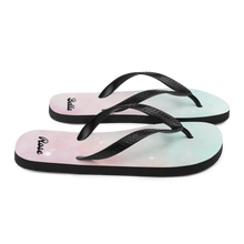 Load image into Gallery viewer, Stardust Dream Flip Flops (Customize #name) - Periwinkle Baby
