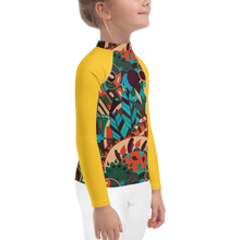 Load image into Gallery viewer, Boho Rhapsody Kids Rash Guard UPF - Periwinkle Baby
