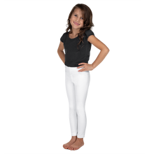 Load image into Gallery viewer, White Kids Leggings with UPF for Rash Guard Set - Periwinkle Baby