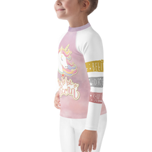 Load image into Gallery viewer, Dreamscape Unicorn Girls Rash Guard UPF - Periwinkle Baby