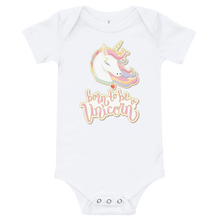 Load image into Gallery viewer, Magical Unicorn Baby Onesie - Periwinkle Baby