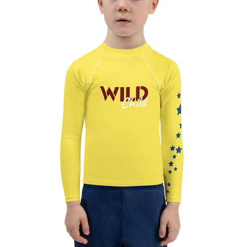 Wild Child Young and Free Unisex Rash Guard UPF - Periwinkle Baby
