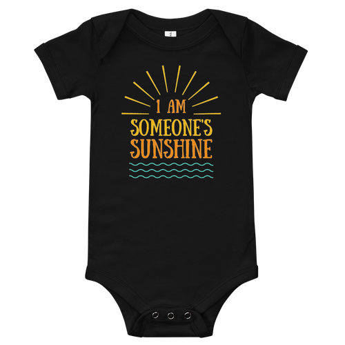 I am Someone's Sunshine Family Matching Onesie - Periwinkle Baby
