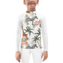 Load image into Gallery viewer, Animals Girls Rash Guard UPF - Periwinkle Baby