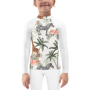 Animals Girls Rash Guard UPF - Periwinkle Baby