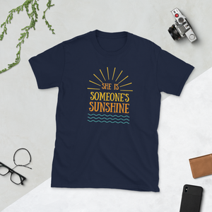 She is Someone's Sunshine Mom and Dad T-Shirt - Periwinkle Baby