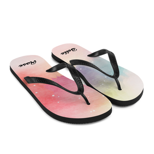 Watercolor Splash of Colors Flip-Flops (Customize #name) - Periwinkle Baby