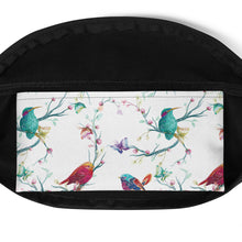 Load image into Gallery viewer, Birds in Spring Time Water-resistant Fanny Pack - Periwinkle Baby