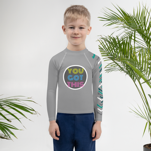 You Got This Unisex Kids Rash Guard - Periwinkle Baby