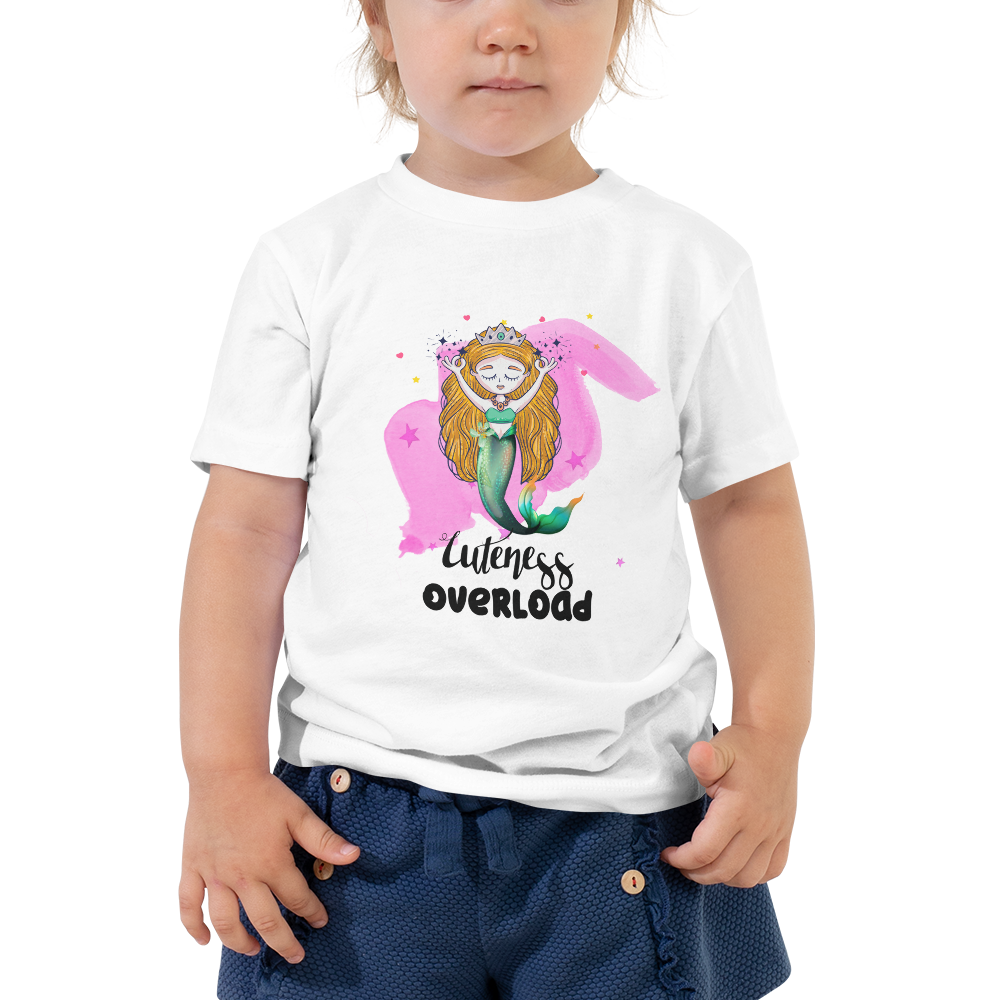 Cuteness Overload Toddler T-shirt - Periwinkle Baby