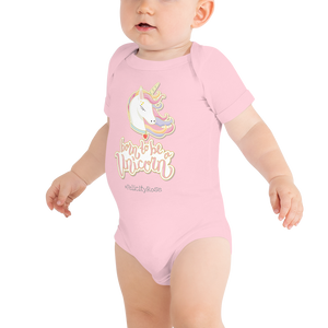 Baby Unicorn Onesie Romper (Customize #name on Front and Back) - Periwinkle Baby