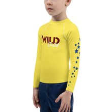 Load image into Gallery viewer, Wild Child Young and Free Unisex Rash Guard UPF - Periwinkle Baby