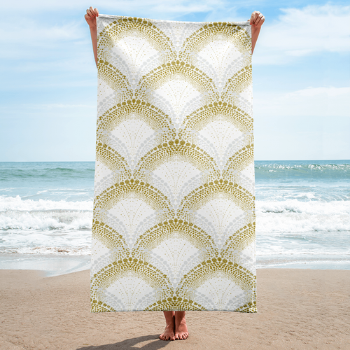 Mermaid Beach Towel - Periwinkle Baby