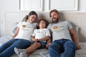 Donut Care Family Matching Mom and Dad T-Shirt - Periwinkle Baby