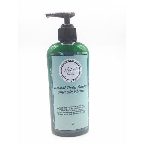 Emerald Wishes Herbal Body Lotion w/ Black Pump