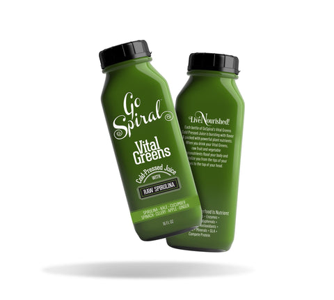 Leafy Greens - Cold-Pressed Juice with Raw Spirulina