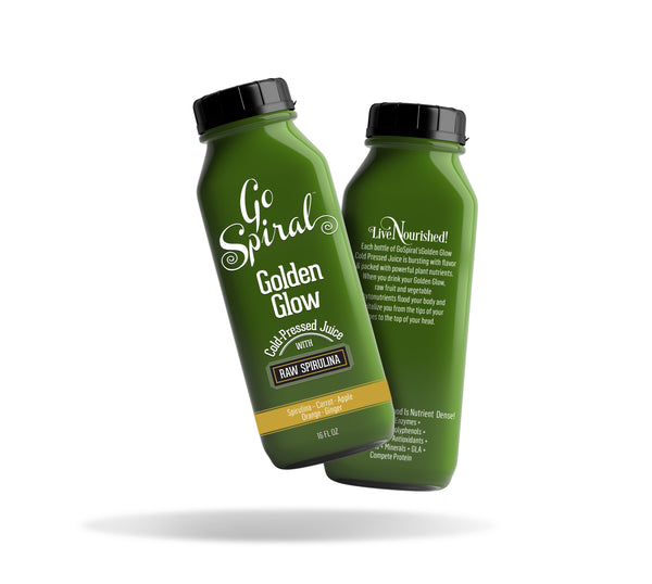 Golden Glow - Cold-Pressed Juice with Raw Spirulina