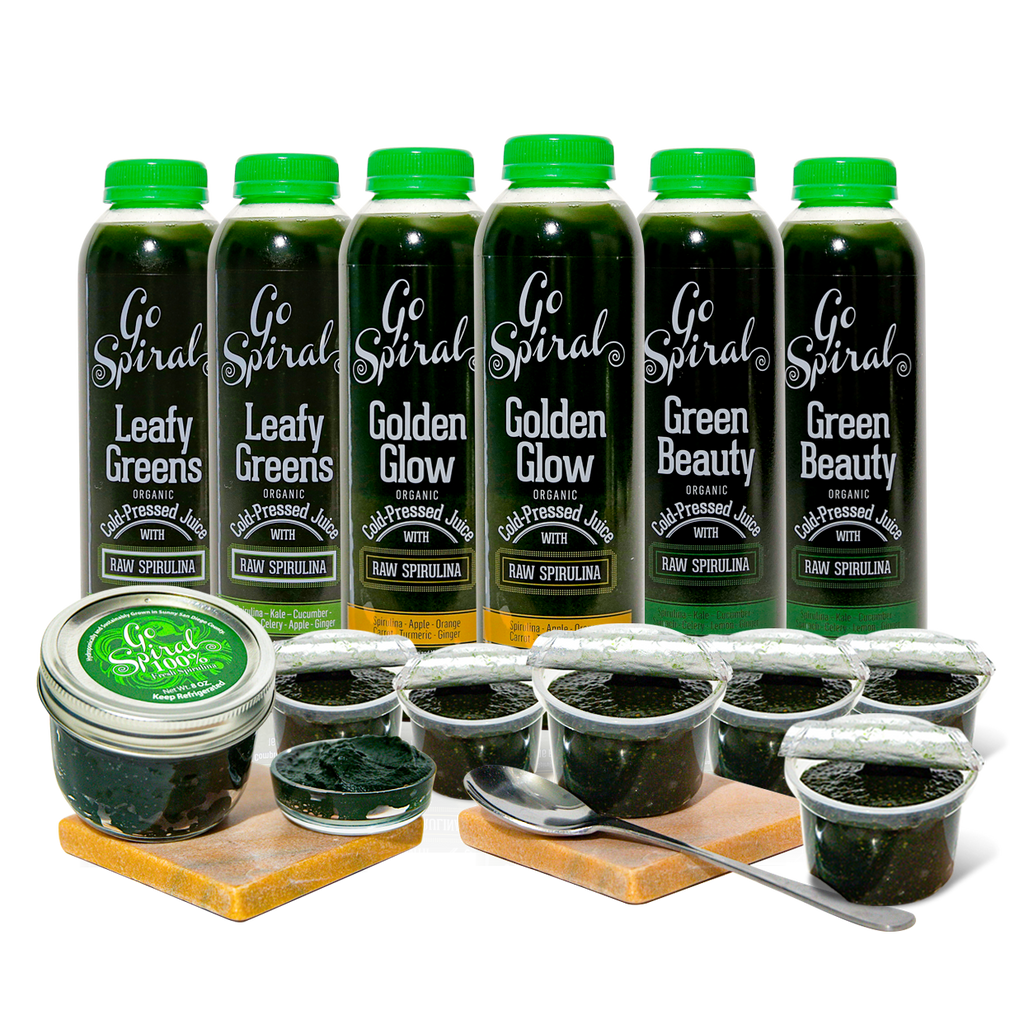 All Products - Discount Combo - 6 Juices | 6 Chia Puddings | Jar of Fresh Spirulina