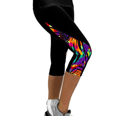 Spandex Capri's with Print - Runner Lyfe
