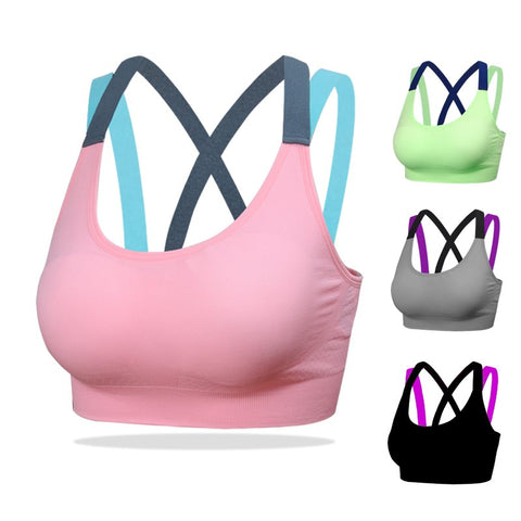 Cross Strap Sports Bra - Runner Lyfe