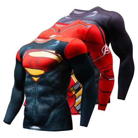 Long Sleeve Superhero Compression Shirt - Runner Lyfe