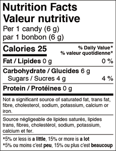 ORIGINAL MAPLE  FLAVOURED CANDY/Bonbon aromatisé à l'érable 108g bag/sac