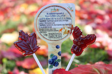 Load image into Gallery viewer, BLUEBERRY&MAPLE FLAVOURED LOLLIPOP/Sucette aromatisée au bleuet et à l'érable 12g/pieces/piéces