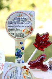 maple blueberry candy lollipop