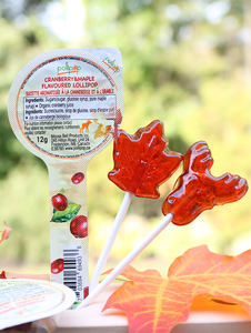maple cranberry candy lollipop