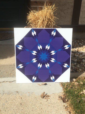 Serenity Backyard Barn Quilt
