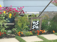Barn Quilt in Flowerbed