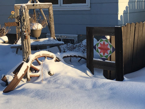 Barn Quilt Winter