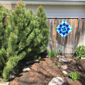 Inspiration Backyard Barn Quilt - Quilt Designs in the Yard