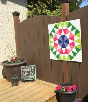 Blossoms Backyard Barn Quilt - Quilt Designs in the Yard