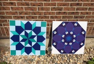 Serenity Backyard Barn Quilts - Quilt Designs in the Yard