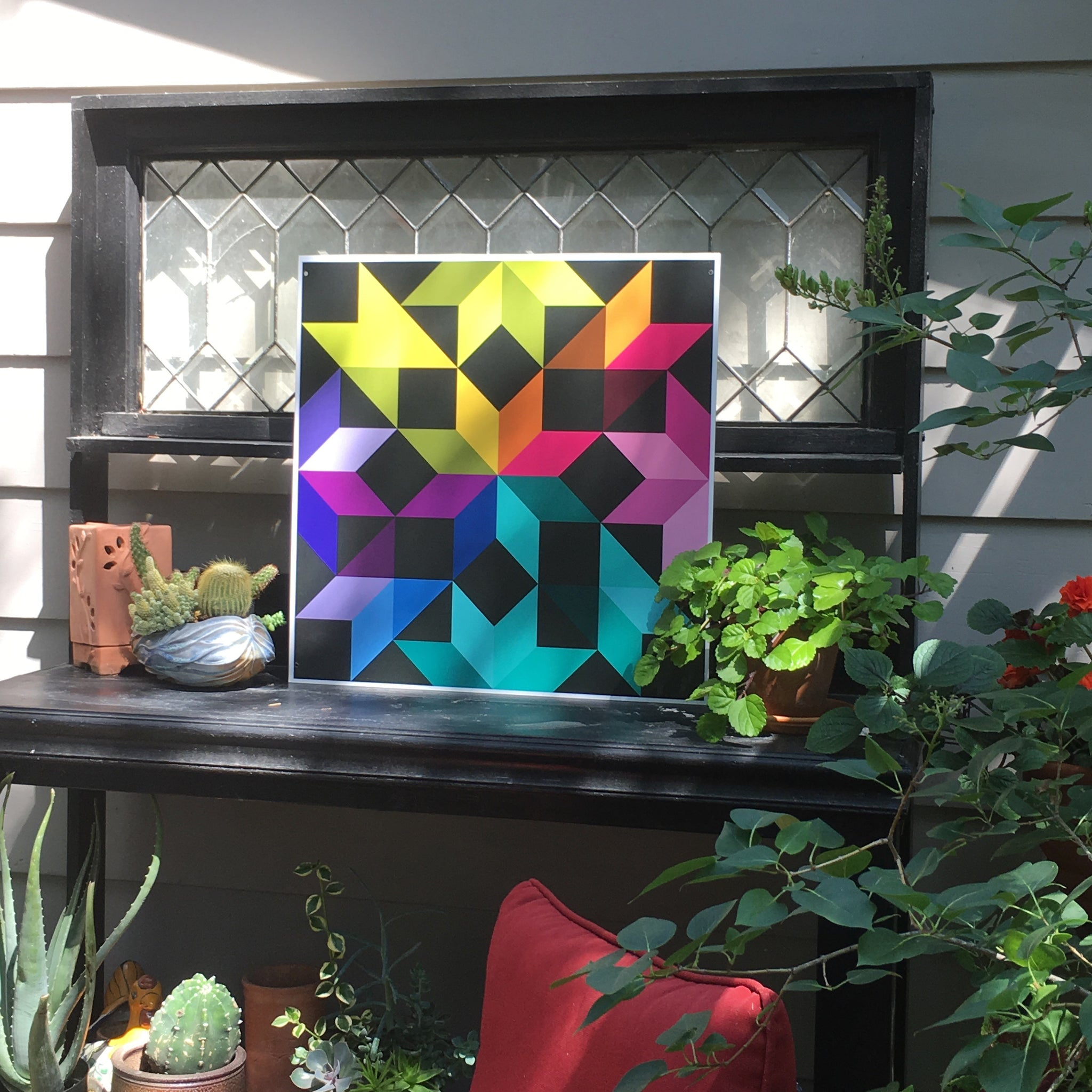 Northern Lights Backyard Barn Quilt - Quilt Designs in the Yard