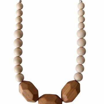 The Austin - Cream Teething Necklace