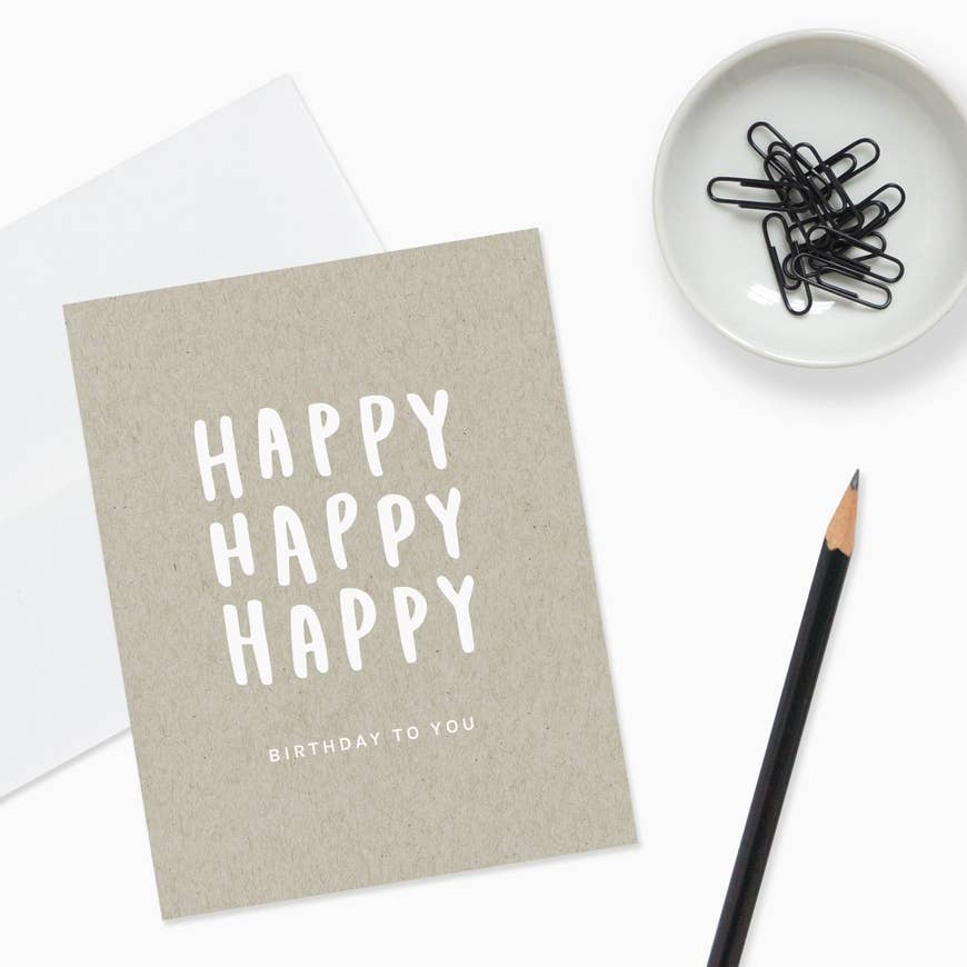 Happy Happy Happy Card