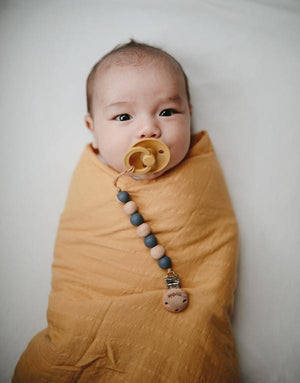Muslin Swaddle Blanket Organic Cotton - Fall Yellow
