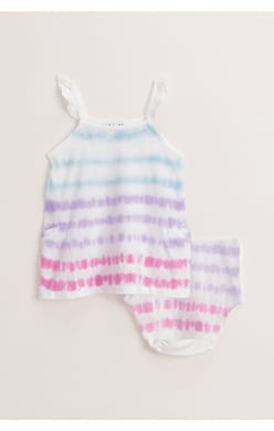 Multi Tie Dye Dress Set