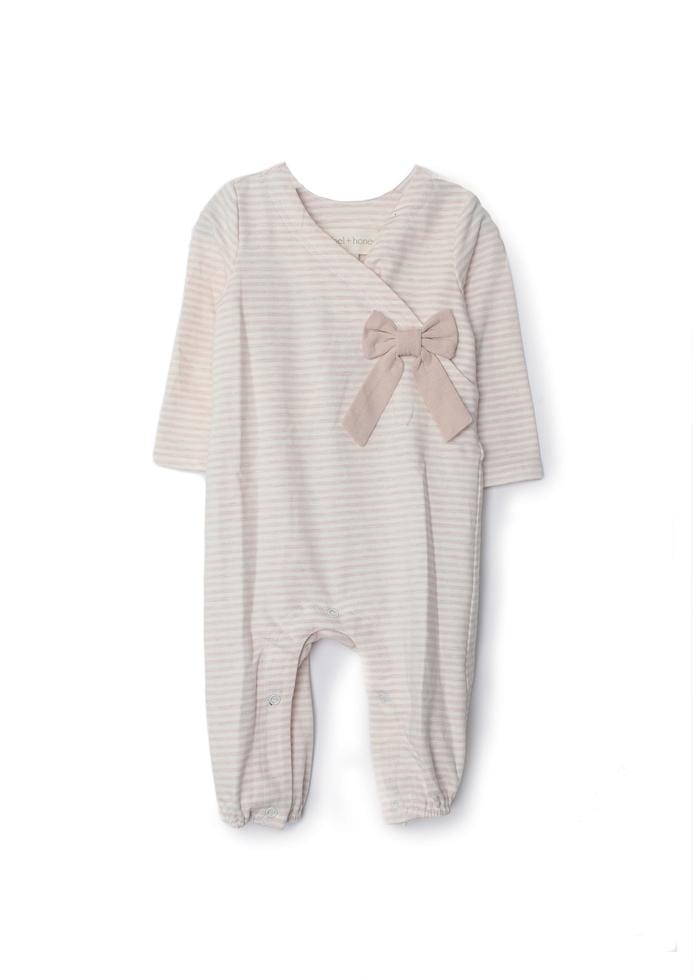 Girl Power Knit Romper with Bow Detail