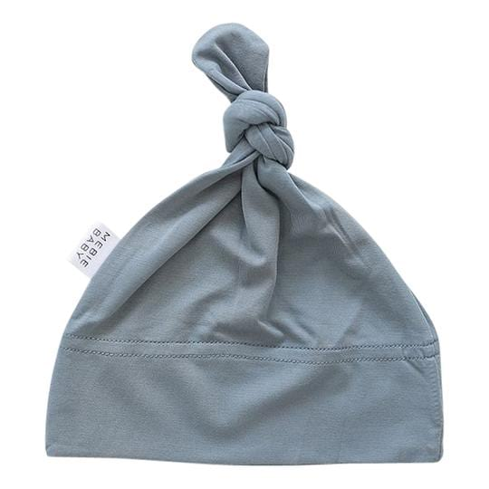 Dusty Blue Newborn Knot Hat