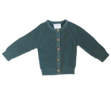 Teal Knit Cardigan Sweater