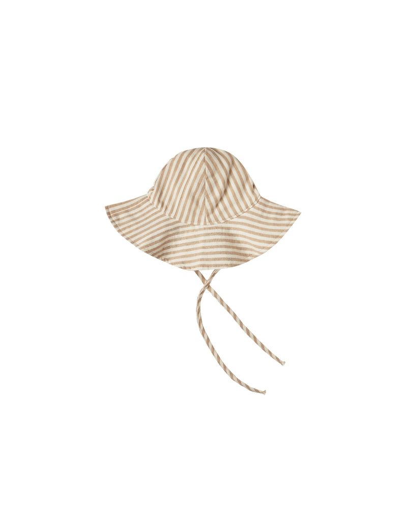 Floppy Sun Hat || Almond Stripe