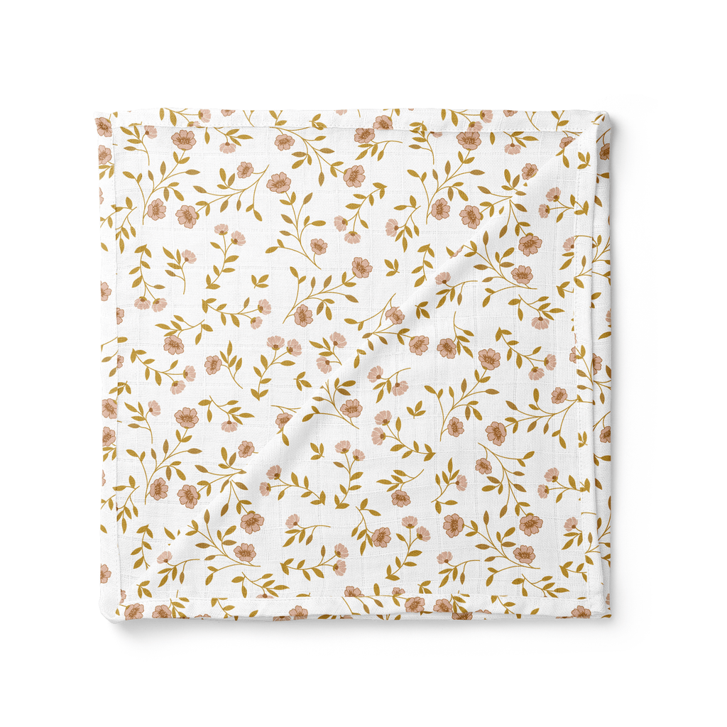 Wild Flower White Swaddle