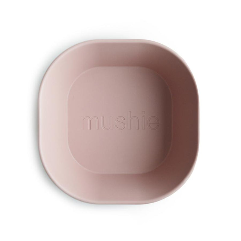 Square Dinnerware Bowl, Set of 2 - Blush