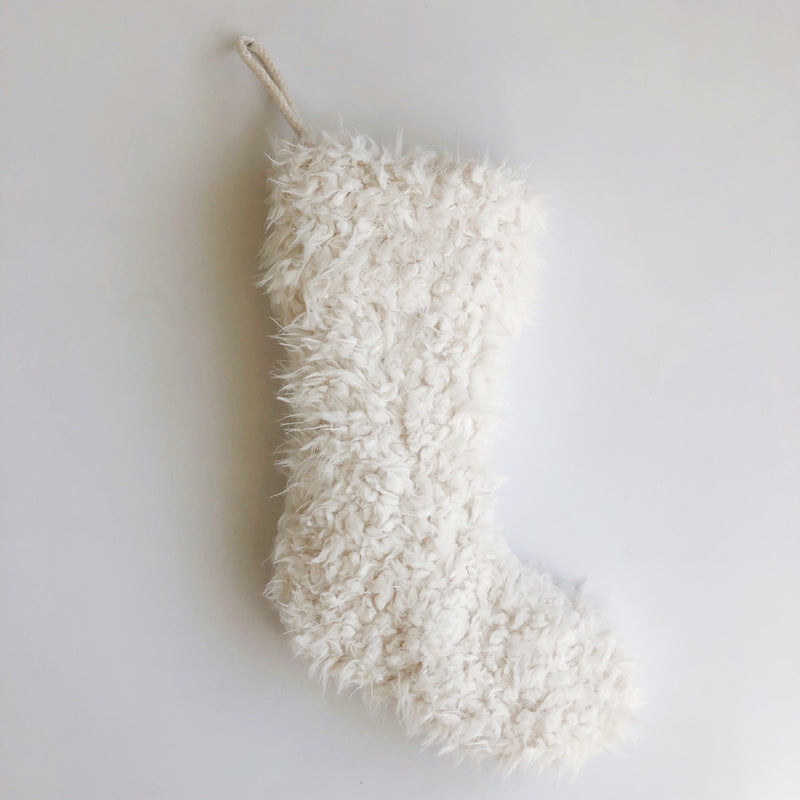 White Fur Stocking