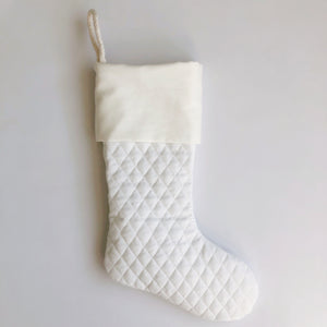 Bottom Quilted Stocking - Available for Monogramming
