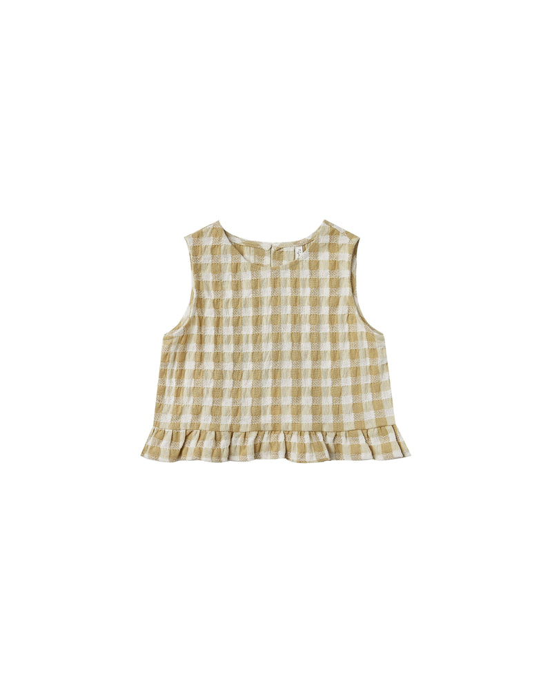 Leonie Top || Butter Gingham
